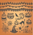 Halloween party design element vector image
