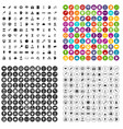 100 science brainstorm icons set variant vector image vector image