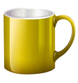 A big yellow mug vector image vector image