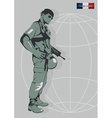 a soldier of the Foreign Legion vector image vector image