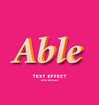 able retro style text style ffect vector image vector image