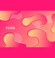 abstract dynamic fluid shape gradient background vector image vector image