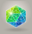 Abstract Geometric Blue Green Hexagonal vector image