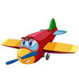 airplane cartoon character with big eyes isolated vector image