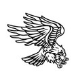 american eagle vintage tattoo template vector image vector image