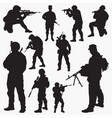 army silhouettes vector image vector image
