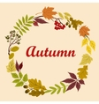 Autumnal wreath with acorns leaves and viburnum vector image vector image