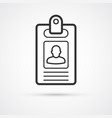 badge business flat line icon eps10 vector image