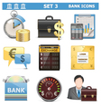 Bank Icons Set 3 vector image vector image