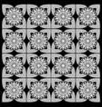 black and white floral patterns vector image vector image