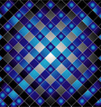 Blue metal grid background vector image vector image