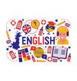 british english language learning class vector image vector image