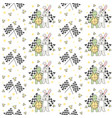 buddy racing turtle and rabbit seamless pattern vector image vector image