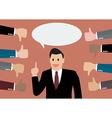 Businessman feedback vector image