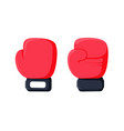 cartoon red boxing glove icon front and back vector image