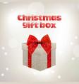christmas giftbox stylish vector image