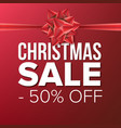 christmas sale banner crazy vector image vector image