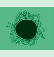 circular frame with laurel leafs vector image vector image