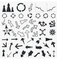 collection arrows5 vector image vector image