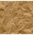 Craft Recycled Crumpled Paper Texture vector image