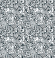 Curly lines seamless pattern vector image vector image