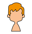 cute and little boy shirtless vector image