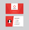elegant clean red business card design vector image vector image