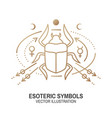 Esoteric symbols thin line geometric