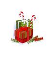 flat winter holiday symbols objects set vector image