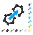 gear integration icon vector image vector image