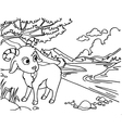 Goat Coloring Pages vector image vector image