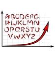 graph alphabet vector image vector image