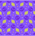 halloween seamless pattern with skull and candy vector image