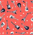 hand drawing print design guitar vector image