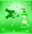 hand sanitizer symbol hygiene wash vector image vector image