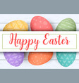 happy easter stripe with text colorful easter vector image vector image