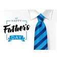 happy fathers day blue necktie and mens suit vector image vector image
