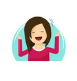 happy surprised woman flat vector image vector image