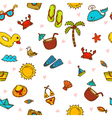 I love summer Seamless summer pattern with hand