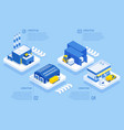 isometric logistics and delivery delivery of vector image vector image
