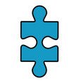 jigsaw puzzle icon vector image vector image