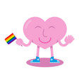 lgbt heart vector image vector image