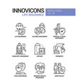 life insurance - line design style icons vector image
