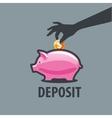 logo piggy bank vector image vector image