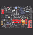 london city doodles elements collection hand vector image vector image