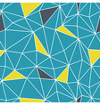 Low poly seamless repeat pattern Triangular facets vector image vector image