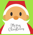 merry christmas santa face card vector image