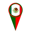 mexico map pointer location flag vector image vector image