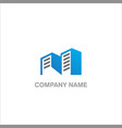 modern building realty company logo vector image vector image