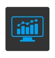 Monitoring Icon vector image vector image